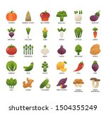 vegetable   thin line and pixel ...   Shutterstock .eps vector #1504355249