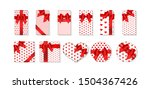 set of gift boxes various...   Shutterstock .eps vector #1504367426