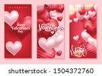 valentines day vertical...   Shutterstock .eps vector #1504372760