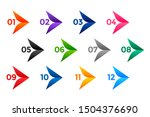 stylish arrow number bullet... | Shutterstock .eps vector #1504376690