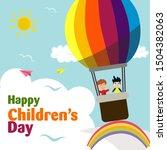 happy children's day for... | Shutterstock .eps vector #1504382063