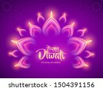 happy diwali. indian luminous... | Shutterstock .eps vector #1504391156