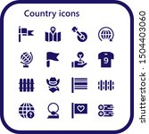country icon set. 16 filled... | Shutterstock .eps vector #1504403060