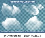 isolated clouds on a blue sky... | Shutterstock .eps vector #1504403636