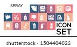 spray icon set. 19 filled spray ... | Shutterstock .eps vector #1504404023