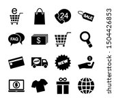 shopping solid icons vector...   Shutterstock .eps vector #1504426853