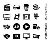movie solid icons vector design   Shutterstock .eps vector #1504426913