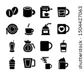 coffee solid icons vector design