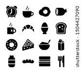 breakfast solid icons vetor...   Shutterstock .eps vector #1504427090