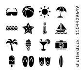 summer solid icons vector design | Shutterstock .eps vector #1504429649