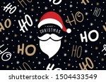 ho ho ho santa claus laugh hat... | Shutterstock .eps vector #1504433549