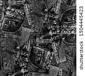 seamless pattern of real denim...   Shutterstock .eps vector #1504445423