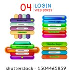 set of login menu web interface ...