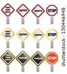 caution   road sign | Shutterstock .eps vector #150446948