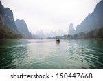 Beautiful Li River In Yangshuo...