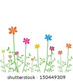 vector flowers    Shutterstock .eps vector #150449309