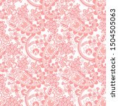seamless pattern with paisley... | Shutterstock .eps vector #1504505063