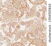 traditional seamless paisley... | Shutterstock .eps vector #1504505810