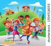 31 5000 happy kids go to school | Shutterstock .eps vector #1504518053