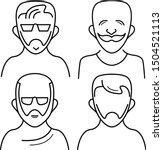 male avatars icons set in... | Shutterstock .eps vector #1504521113