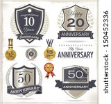 anniversary sign collection ...   Shutterstock .eps vector #150452336