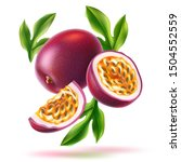 Realistic Passionfruit With...