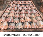 dried striped snakehead fish in ...   Shutterstock . vector #1504558580