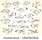 vector drawing with decorative...   Shutterstock .eps vector #1504561826