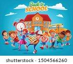 children go to school... | Shutterstock .eps vector #1504566260