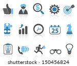 business icons set blue series | Shutterstock .eps vector #150456824