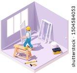 vector isometric construction...   Shutterstock .eps vector #1504584053