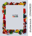 frame of colorful pieces of... | Shutterstock .eps vector #150460820