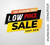 hot sale banner template black...   Shutterstock .eps vector #1504639319