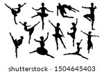 ballet dancer in silhouette... | Shutterstock . vector #1504645403