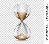realistic transparent hourglass ... | Shutterstock .eps vector #1504653050