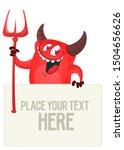 Red Devil Hand Holding White...