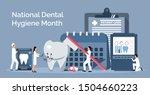national dental hygiene month... | Shutterstock .eps vector #1504660223