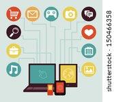 vector concept   mobile app... | Shutterstock .eps vector #150466358