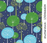 seamless pattern with trees | Shutterstock .eps vector #150466604