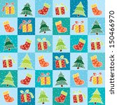 seamless pattern with christmas ... | Shutterstock .eps vector #150466970