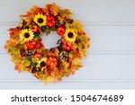 Thanksgiving Autumn Wreath With ...