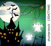 halloween poster   vector | Shutterstock .eps vector #150477440