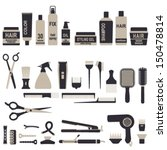 ������, ������: Hair styling icons set