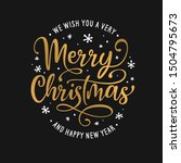 merry christmas and happy new... | Shutterstock .eps vector #1504795673