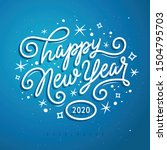 happy new year lettering... | Shutterstock .eps vector #1504795703