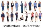 cartoon men and women walking... | Shutterstock .eps vector #1504796930