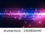 abstract futuristic digital... | Shutterstock .eps vector #1504806440