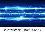 abstract futuristic digital... | Shutterstock .eps vector #1504806449