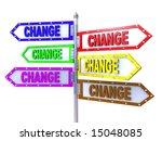 blank arrows directions. change.... | Shutterstock . vector #15048085