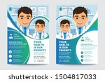 medical brochure. flyer design. ... | Shutterstock .eps vector #1504817033